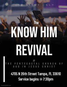 The Know Him Revival Ministries